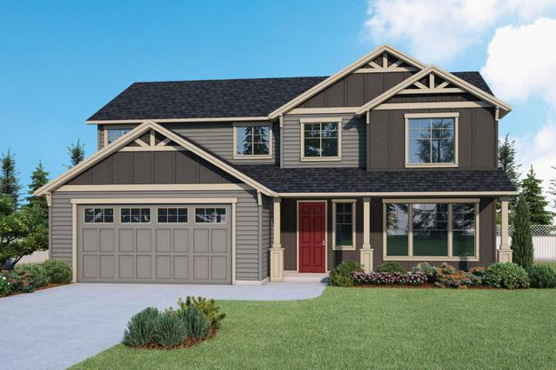 Plan 2541 Elevation 1 Rendering by Aho Construction:Plan 2541 Elevation 1