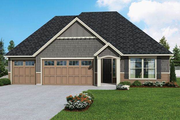 Plan 2061 Elevation 2 Rendering by Aho Construction:Plan 2061 Elevation 2