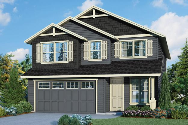 Plan 2556 Elevation 1 Rendering by Aho Construction:Plan 2556 Elevation 1