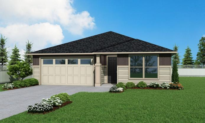 Elevation 1 Plan 1839 by Aho Construction:Elevation 1