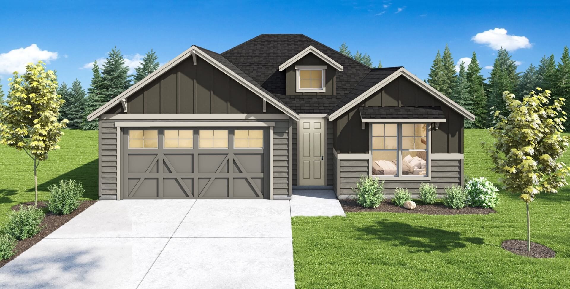 Exterior featured in the Plan 1714 By Aho Construction I, Inc.   in Yakima, WA