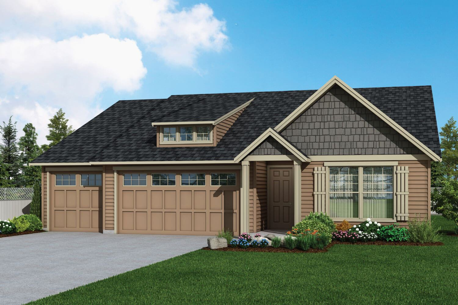 Exterior featured in the Plan 2061 By Aho Construction I, Inc.   in Yakima, WA