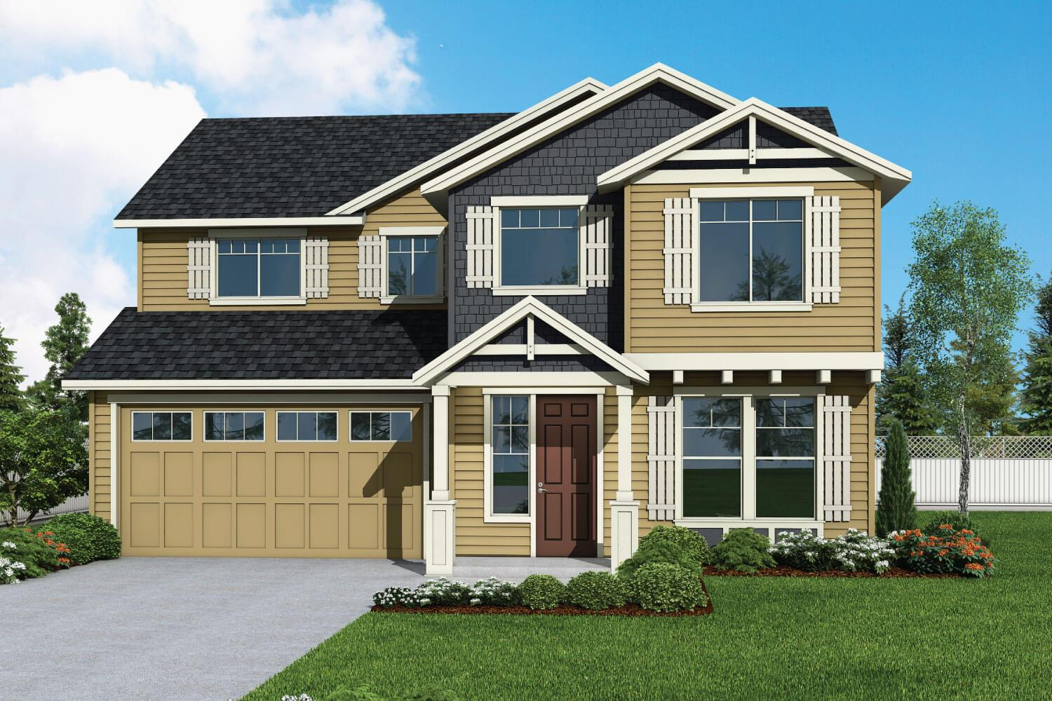 Exterior featured in the Plan 2847 By Aho Construction I, Inc.   in Yakima, WA