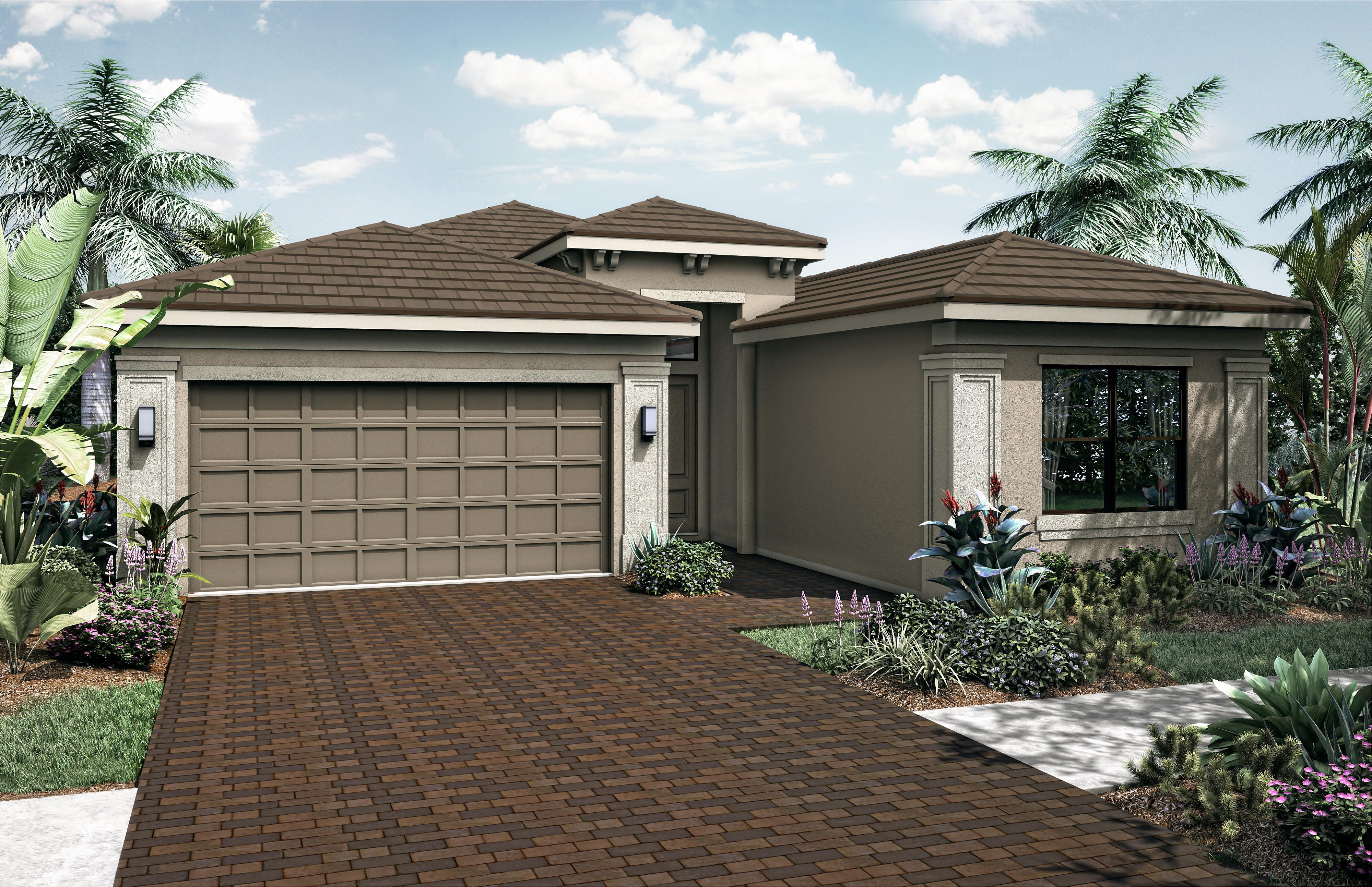 Exterior featured in the Lago Grand By Akel Homes in Palm Beach County, FL