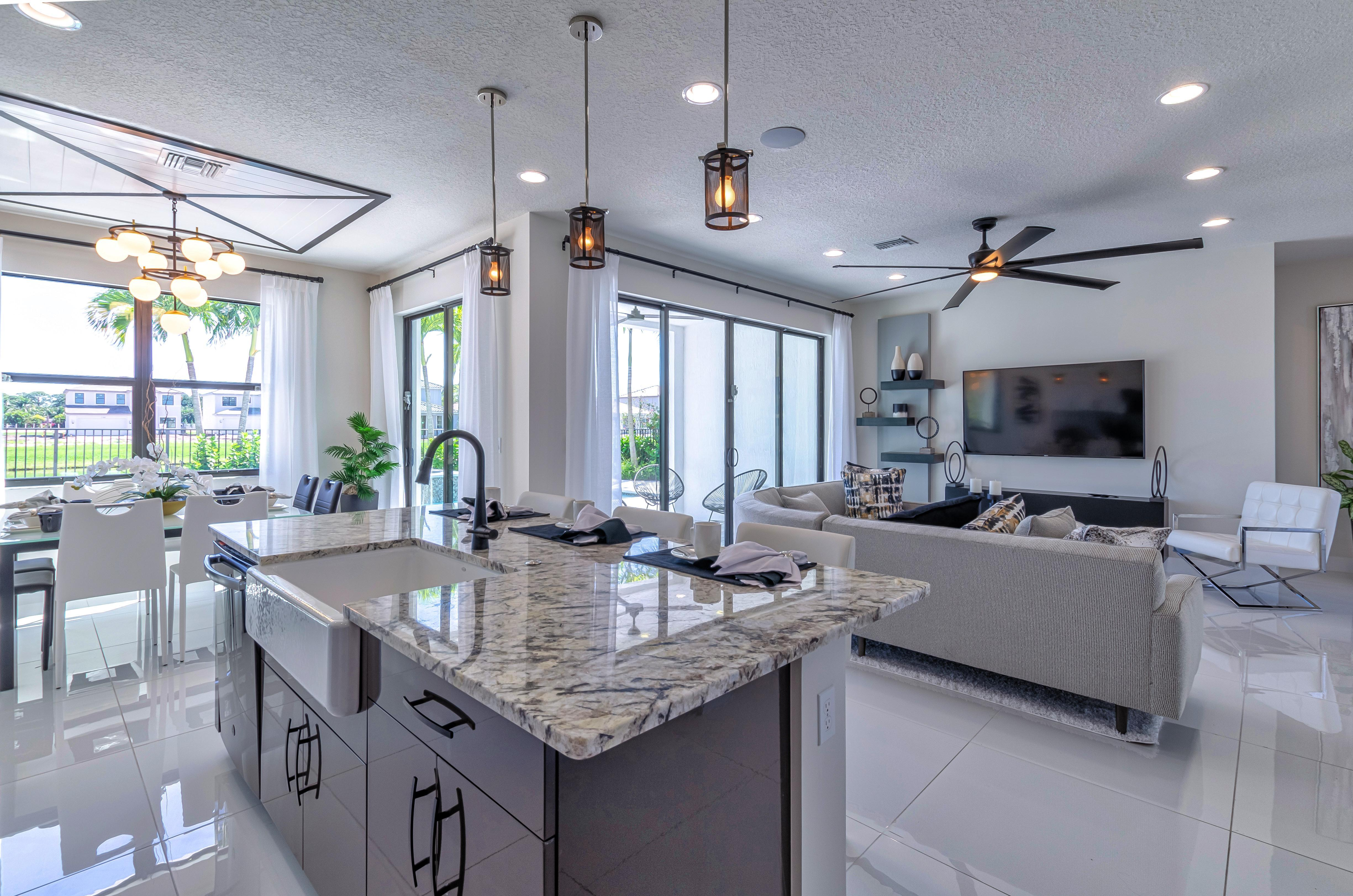 Living Area featured in the Costa By Akel Homes in Palm Beach County, FL
