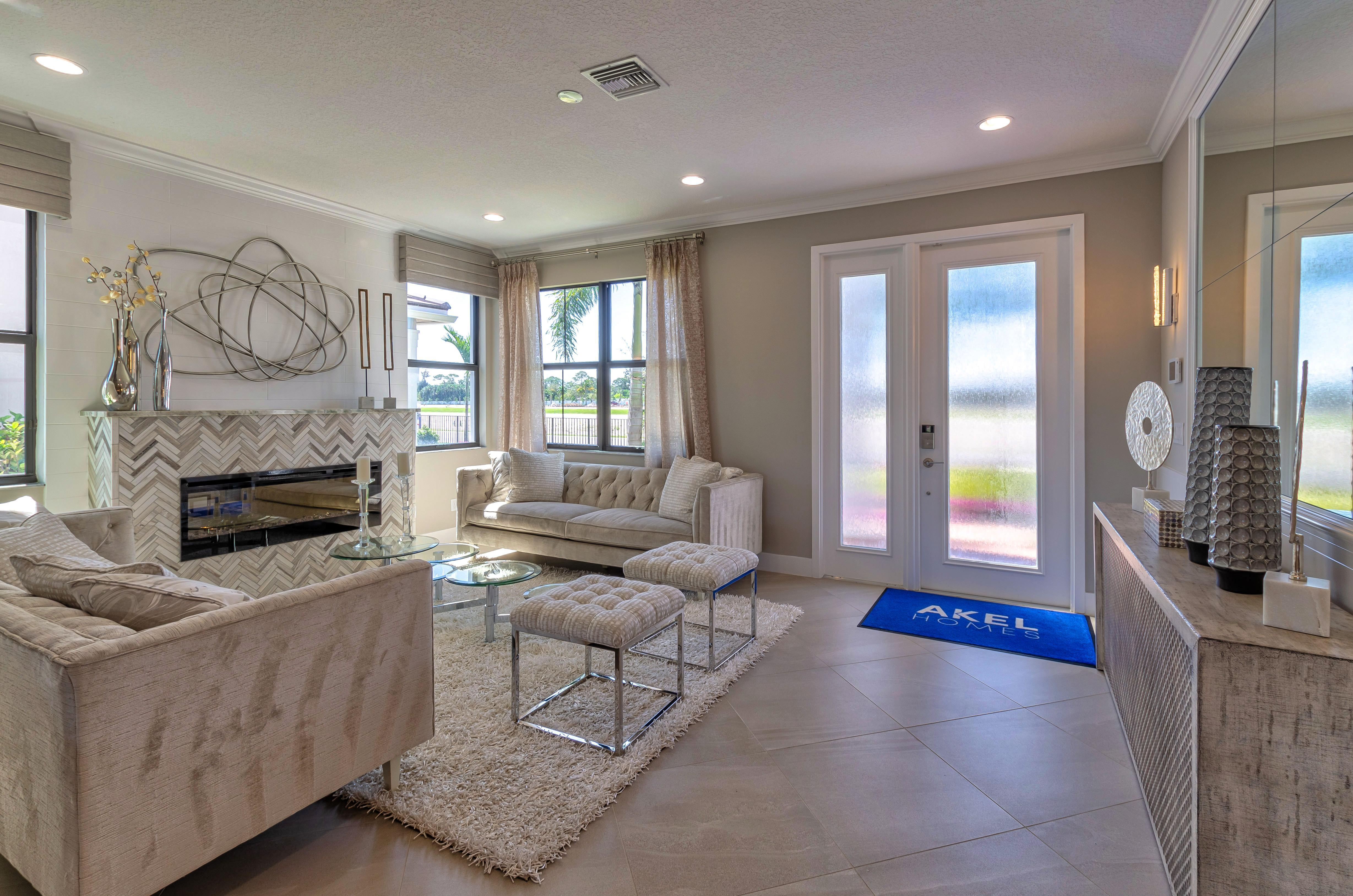 Living Area featured in the Mesa By Akel Homes in Palm Beach County, FL