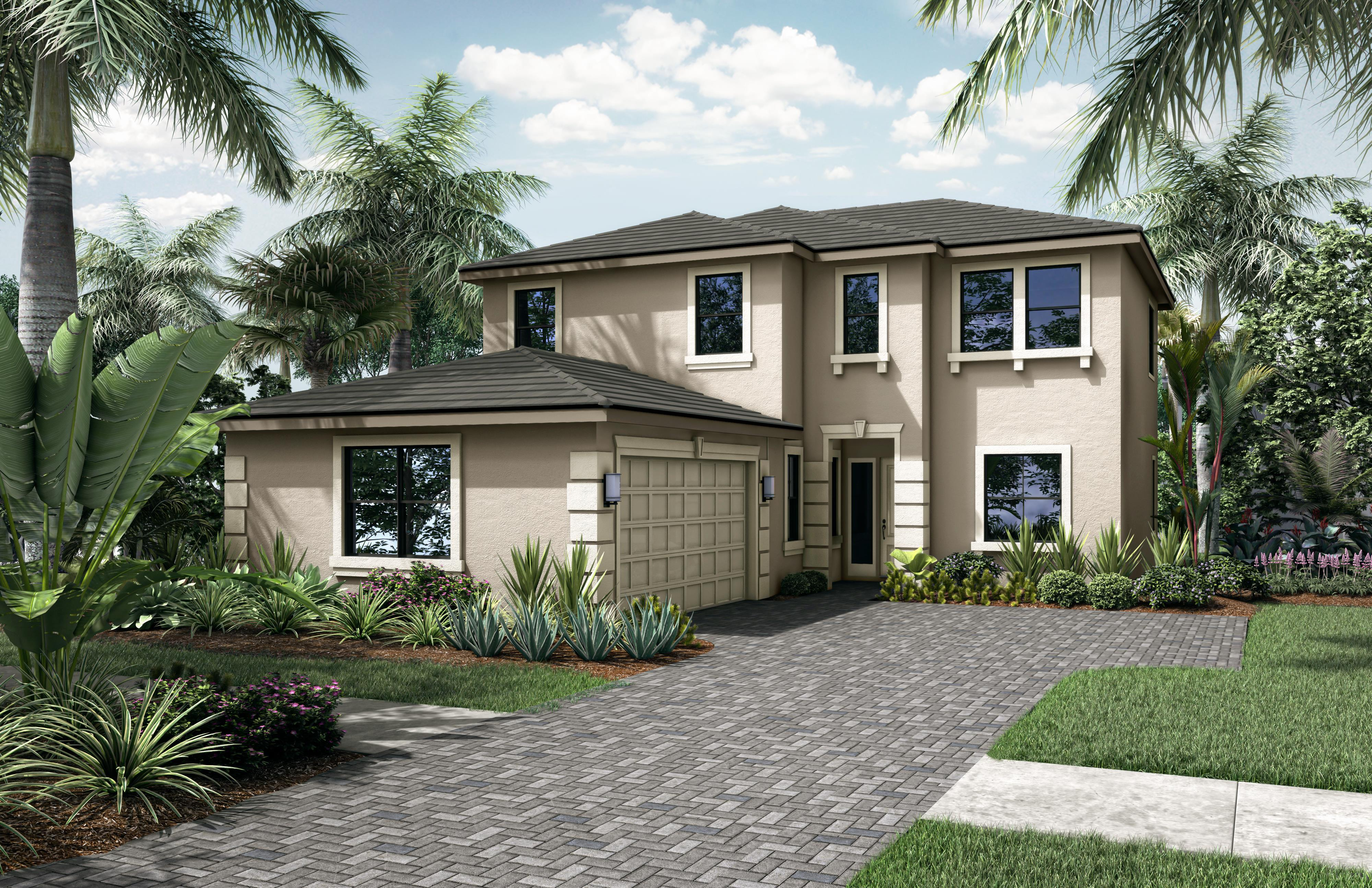 Exterior featured in the Cabo Grand By Akel Homes in Palm Beach County, FL