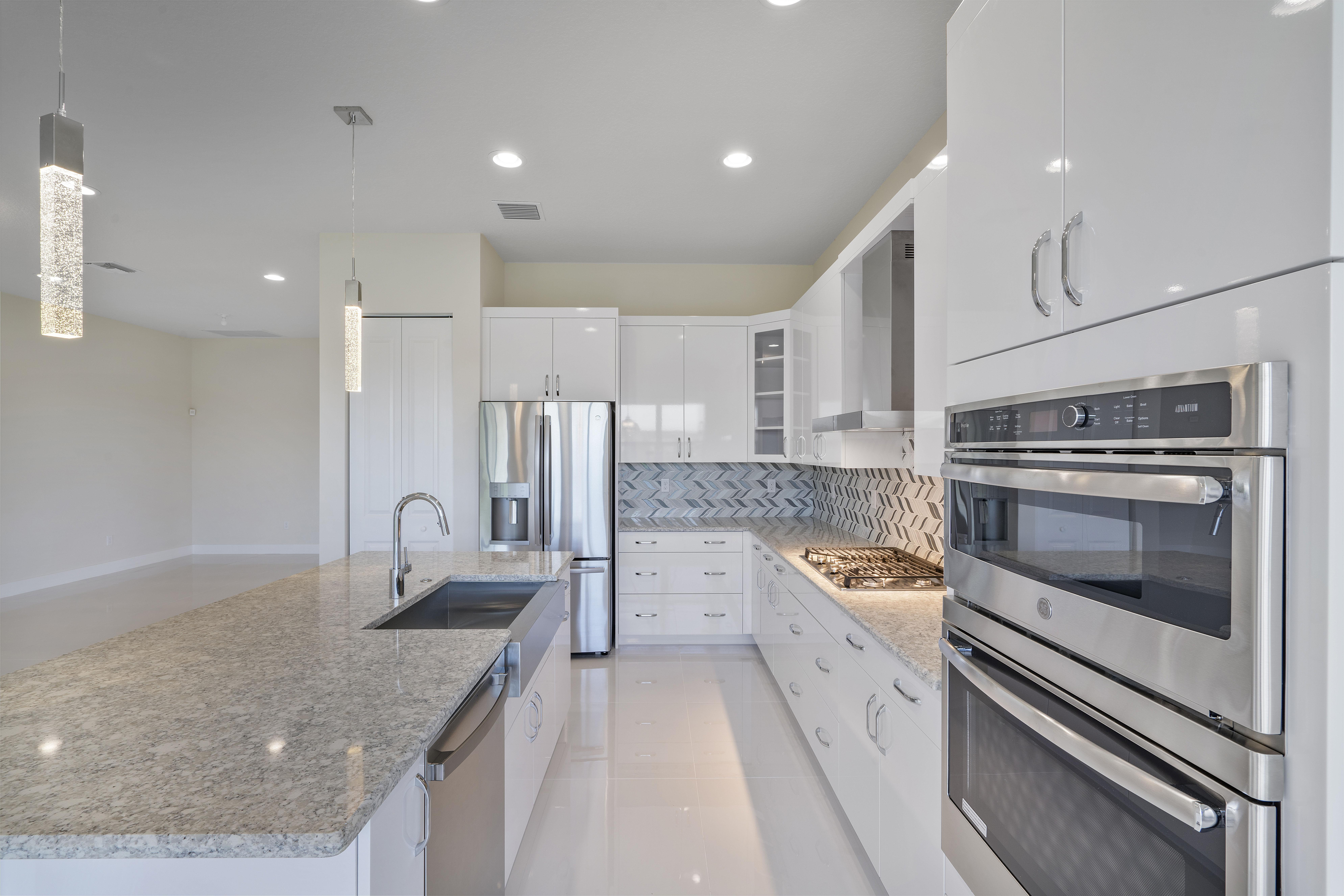 Kitchen featured in the Lago Grand By Akel Homes in Palm Beach County, FL