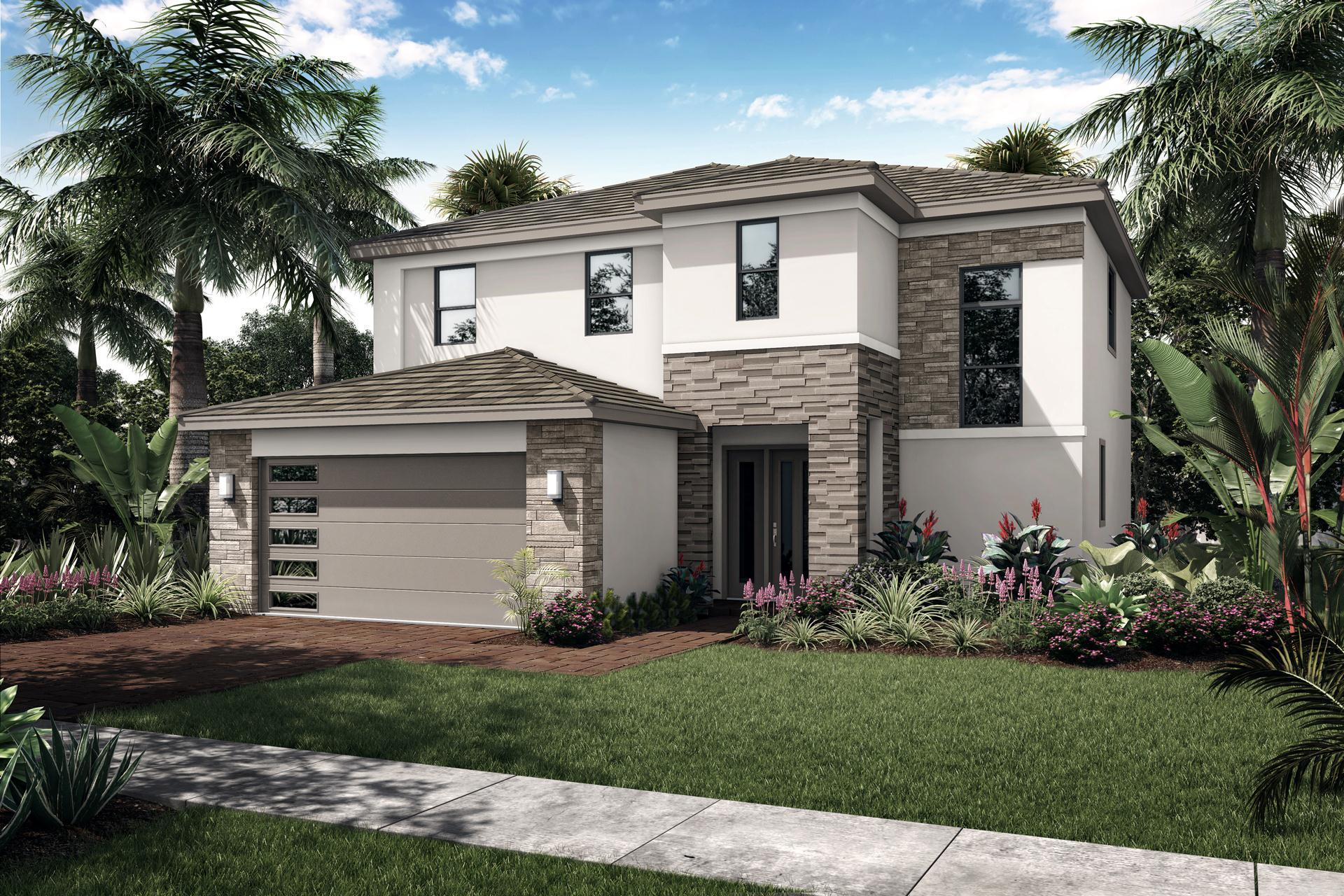 Exterior featured in the Costa By Akel Homes in Palm Beach County, FL