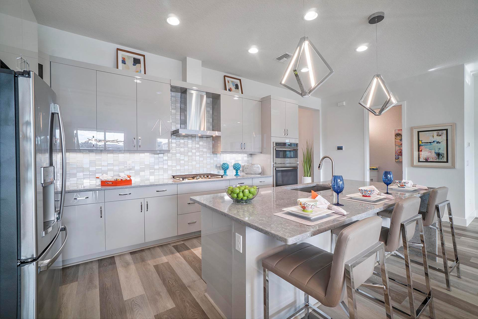 Kitchen featured in the Rio Grand By Akel Homes in Palm Beach County, FL