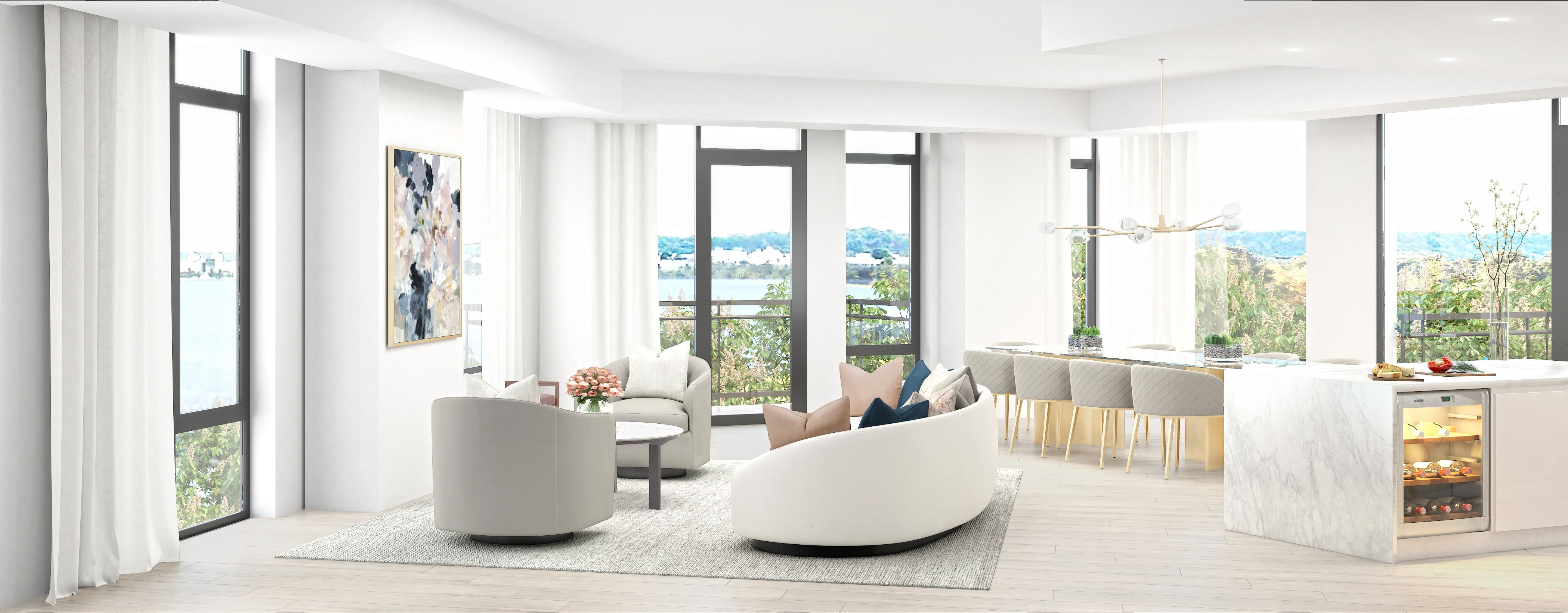 Living Area featured in the Residence D4 By MUSE in Washington, VA