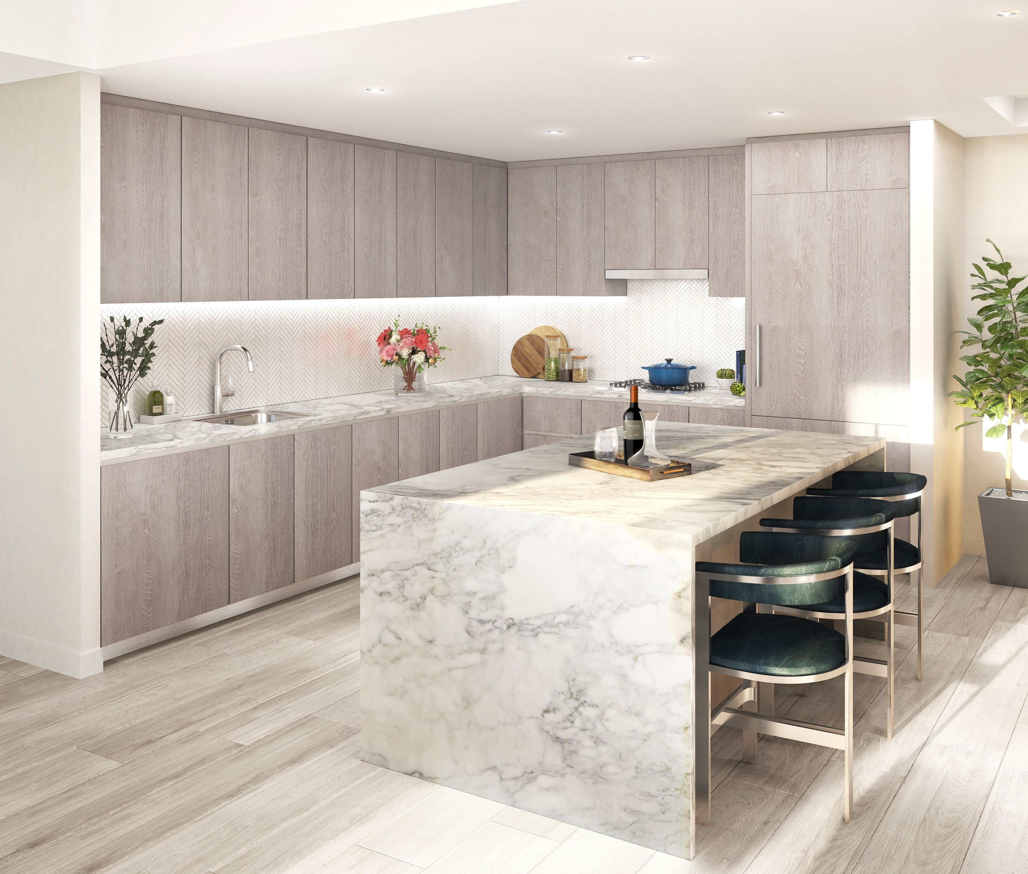 Kitchen featured in the Residence D4 By MUSE in Washington, VA