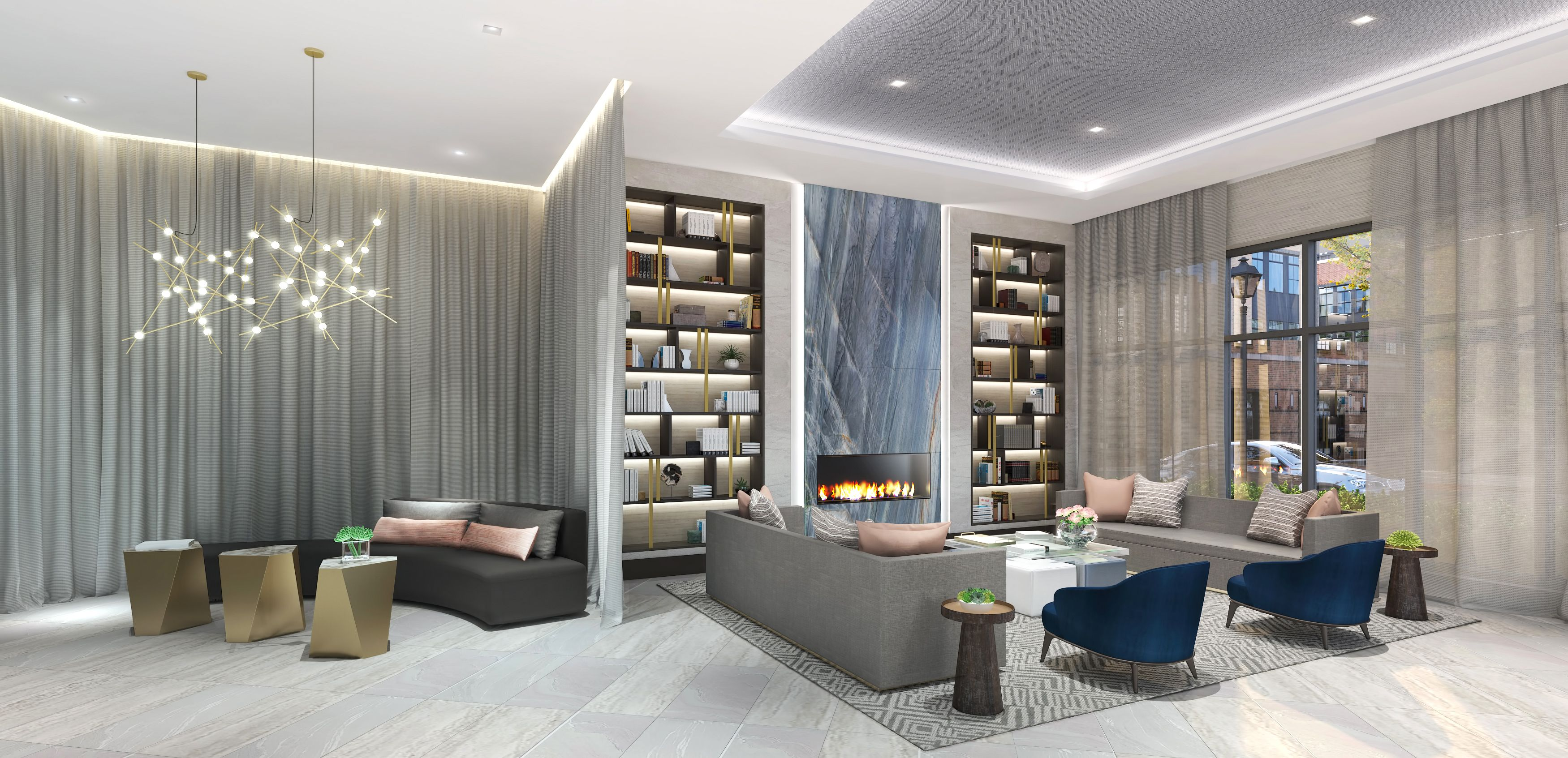 Living Area featured in the Residence D6 By MUSE in Washington, VA