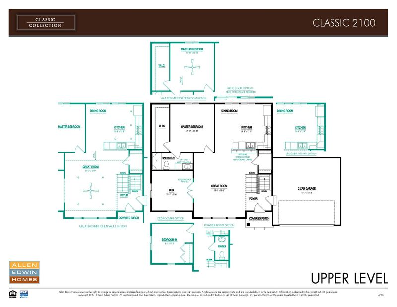 Classics 2100 Home Plan By Allen Edwin Homes In Byram Ridge