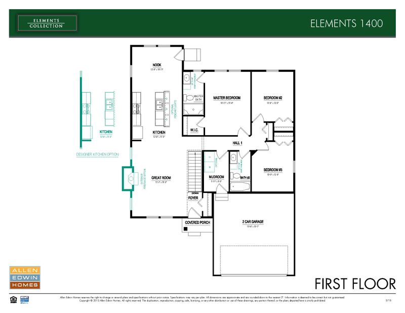 Elements 1400 Home Plan By Allen Edwin Homes In Lighthouse