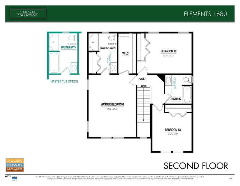 Elements 1680 Home Plan By Allen Edwin Homes In Lighthouse