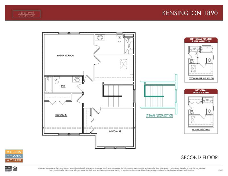 Kensington 1890 Home Plan By Allen Edwin Homes In