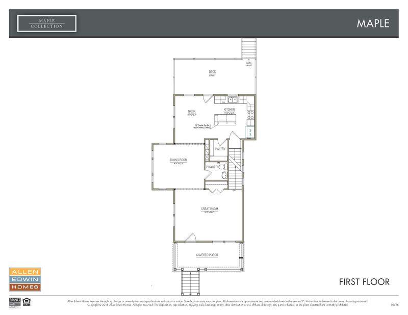 Allen Edwin Floor Plans: Summer Grove Maple Home Plan By Allen Edwin Homes In