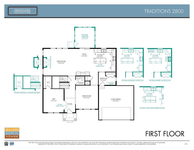 Allen Edwin Floor Plans: Traditions 2800 Model At 28490 Golden Pond Trail