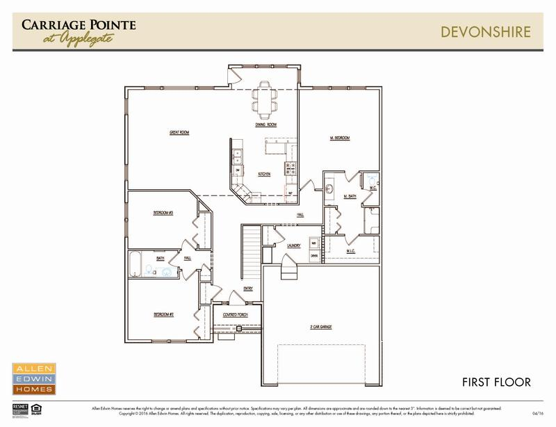 Devonshire Home Plan By Allen Edwin Homes In Carriage