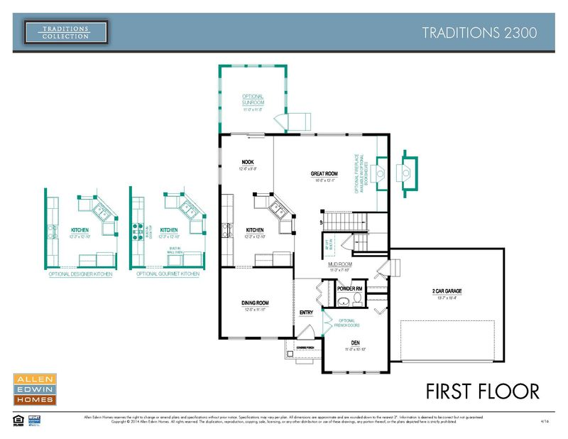 Traditions 2300 Home Plan By Allen Edwin Homes In Firefly
