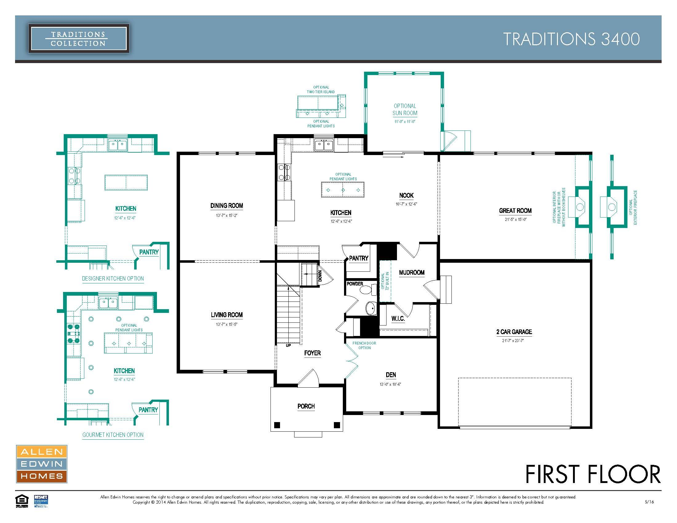 Traditions 3400 Home Plan By Allen Edwin Homes In Firefly