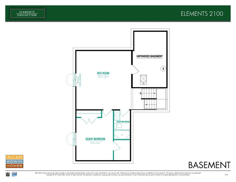 Elements 2100 Home Plan By Allen Edwin Homes In Rush Creek