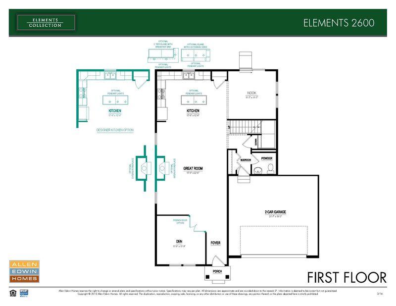 Allen Edwin Floor Plans: Elements 2600 Model At 1439 Slater Drive