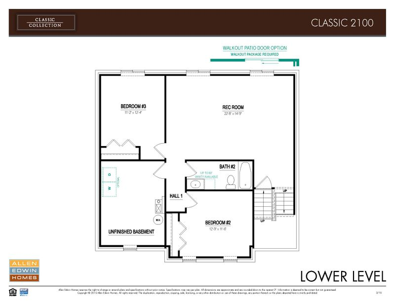Classics 2100 Home Plan By Allen Edwin Homes In Meadow Garden