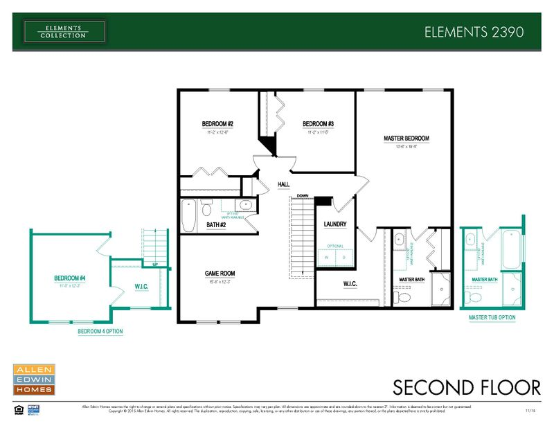 Elements 2390 Home Plan By Allen Edwin Homes In Trail