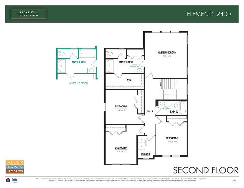 Elements 2400 Home Plan By Allen Edwin Homes In Black