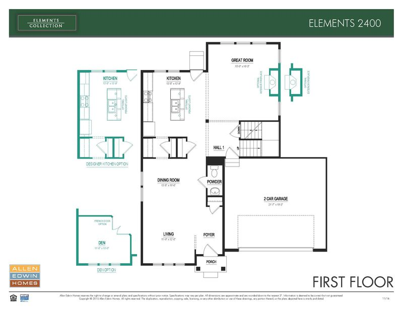 Elements 2400 Home Plan By Allen Edwin Homes In The Woods