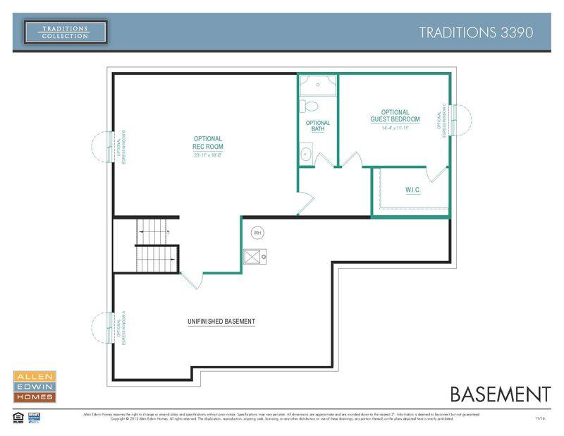 Allen Edwin Floor Plans: Traditions 3390 Home Plan By Allen Edwin Homes In Copperleaf