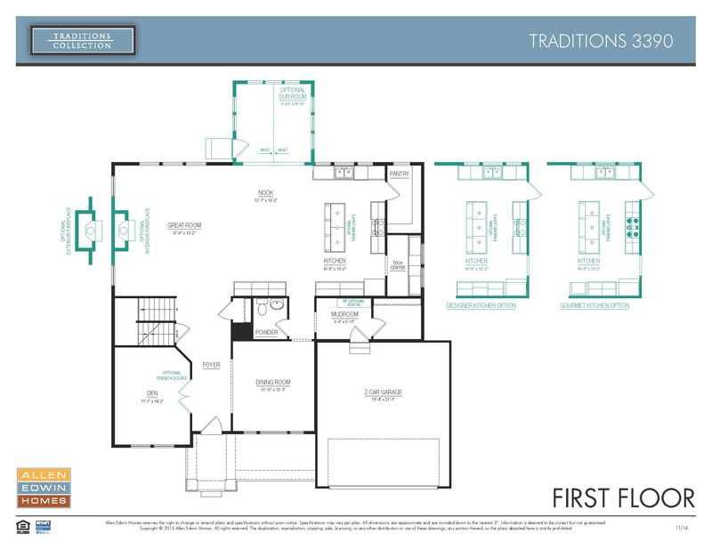Traditions 3390 Home Plan By Allen Edwin Homes In Portage Road