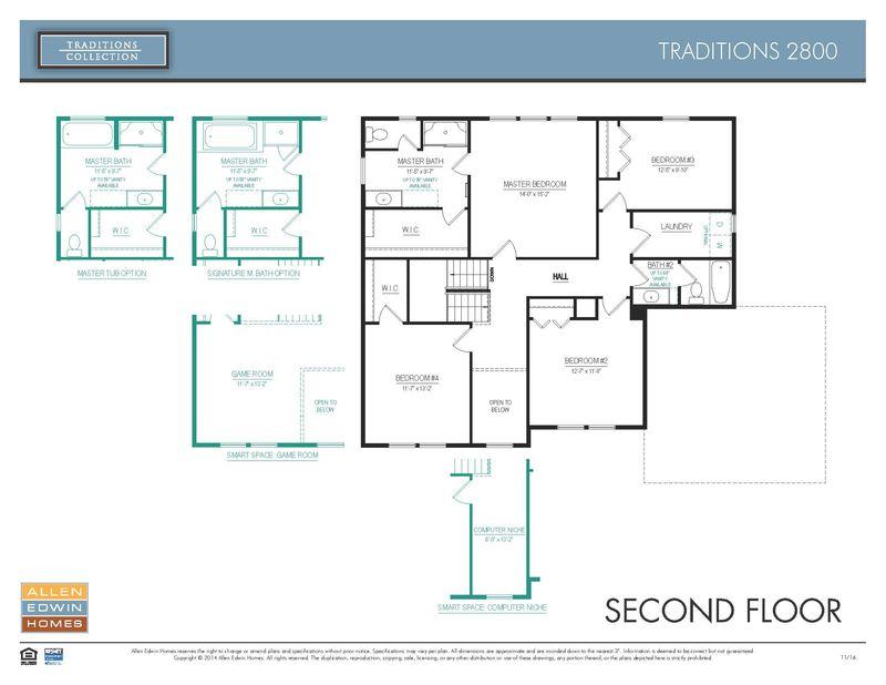 Allen Edwin Floor Plans: Traditions 2800 Home Plan By Allen Edwin Homes In Pleasant