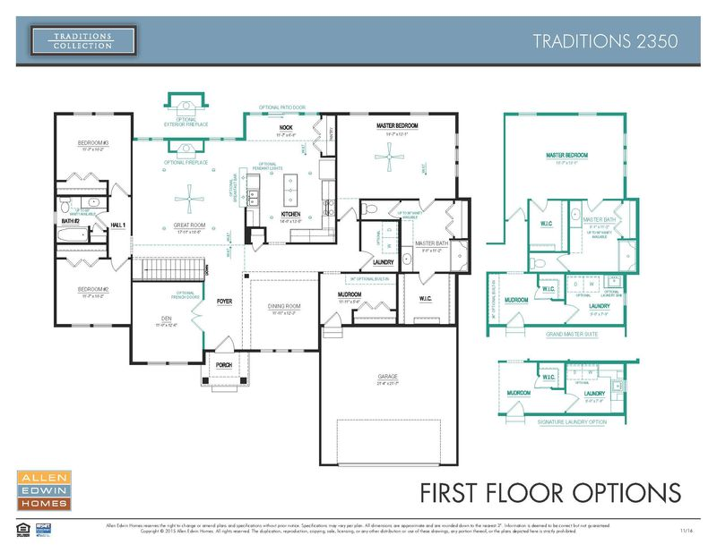 Traditions 2350 Home Plan By Allen Edwin Homes In Woodbury