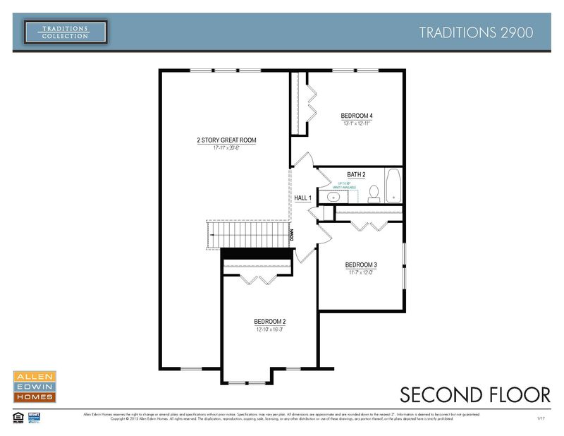 Allen Edwin Floor Plans: Traditions 2900 Home Plan By Allen Edwin Homes In Plan
