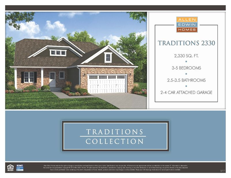 Traditions 2330 Home Plan By Allen Edwin Homes In The