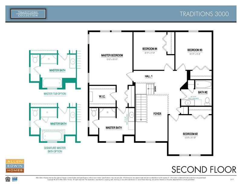 Allen Edwin Floor Plans: Traditions 3000 Home Plan By Allen Edwin Homes In Ryan Valley