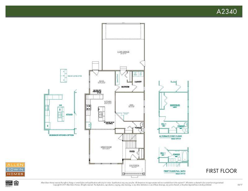 Allen Edwin Floor Plans: A2340 Home Plan By Allen Edwin Homes In Centennial