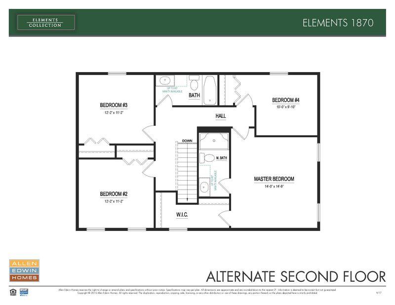 Elements 1870 Home Plan By Allen Edwin Homes In Copperleaf