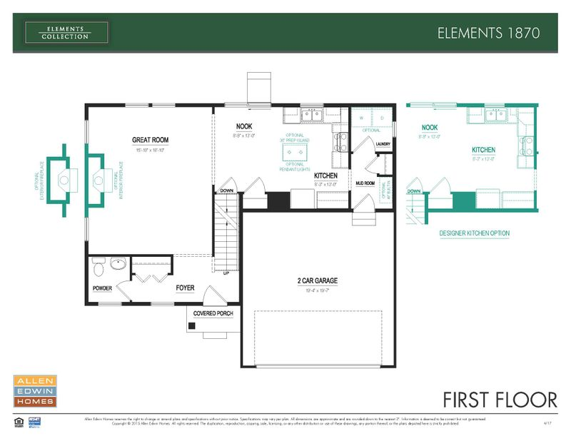 Elements 1870 Home Plan By Allen Edwin Homes In Stillwater