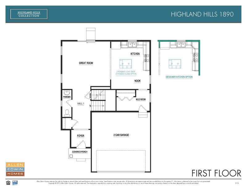 H1890 Home Plan By Allen Edwin Homes In Gilmore Farms