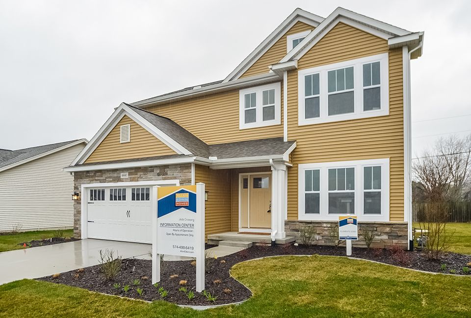 Exterior featured in the Elements 2390 By Allen Edwin Homes in South Bend, IN