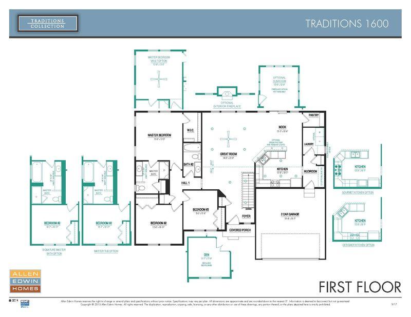 Allen Edwin Floor Plans: Traditions 1600 Home Plan By Allen Edwin Homes In Longmeadow