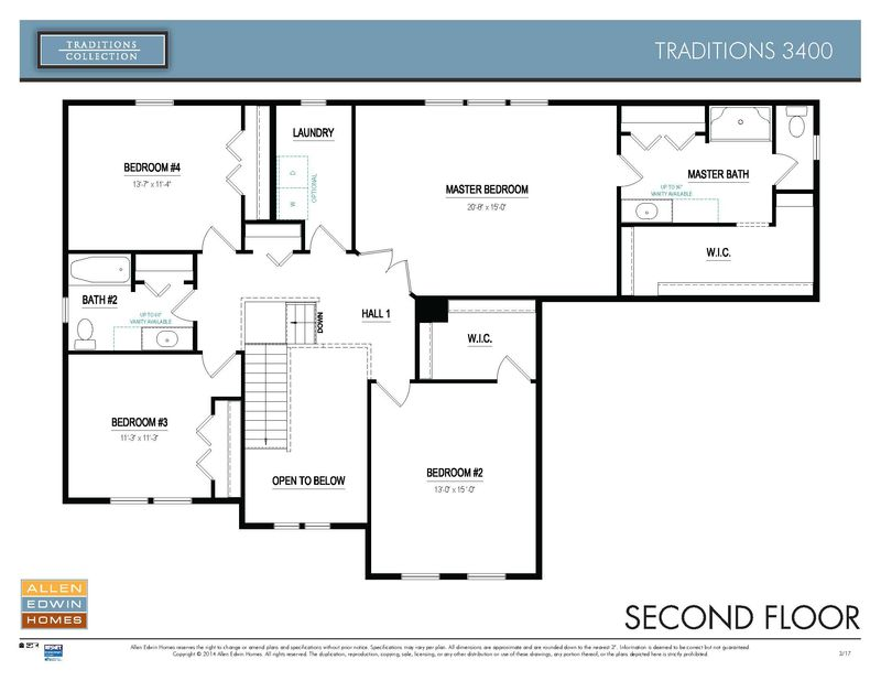 Traditions 3400 Home Plan By Allen Edwin Homes In Avalon Woods