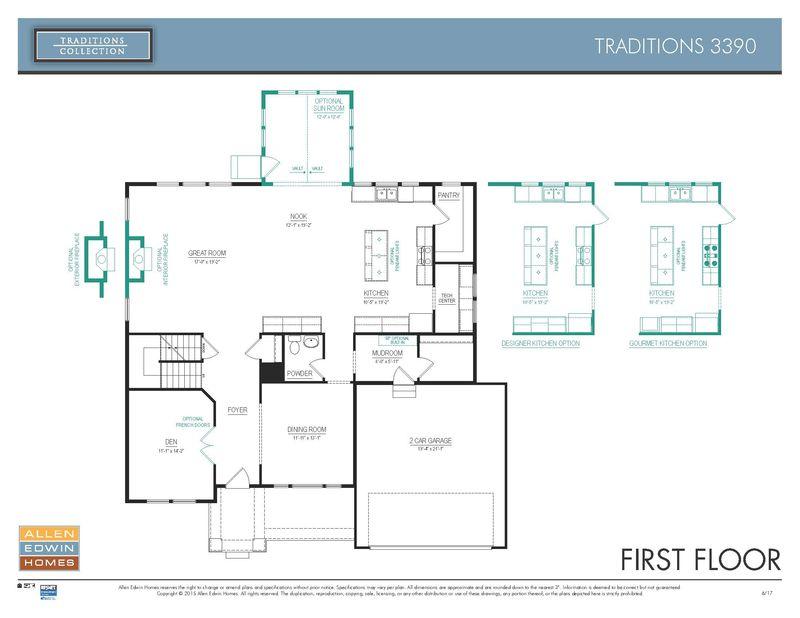 Allen Edwin Floor Plans: Traditions 3390 Home Plan By Allen Edwin Homes In Portage Road