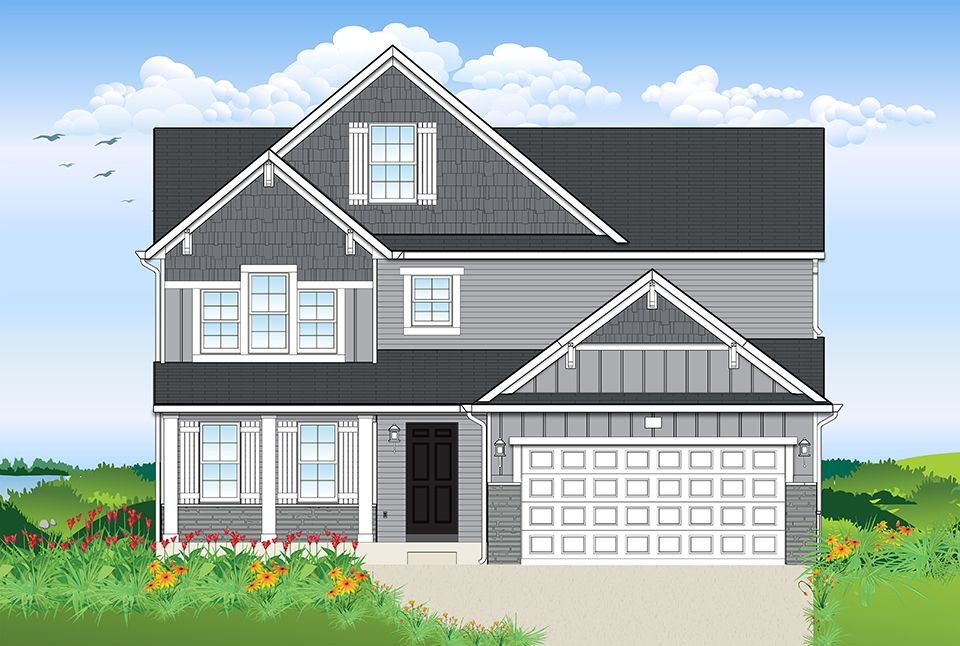 Exterior featured in the Harbor Club 2070 By Allen Edwin Homes in Kalamazoo-Battle Creek, MI