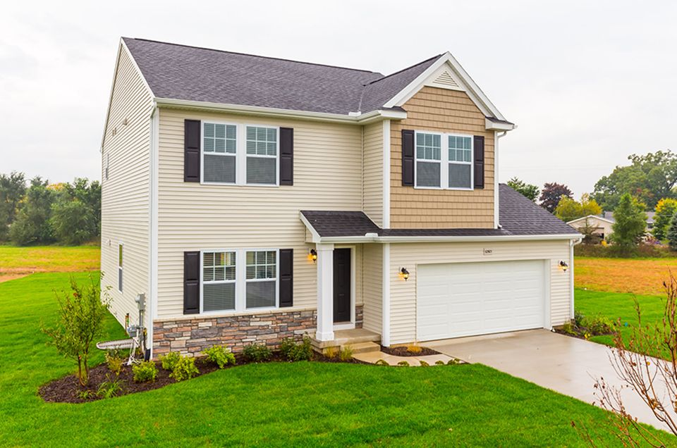 Exterior featured in the Elements 2100 By Allen Edwin Homes in Flint, MI