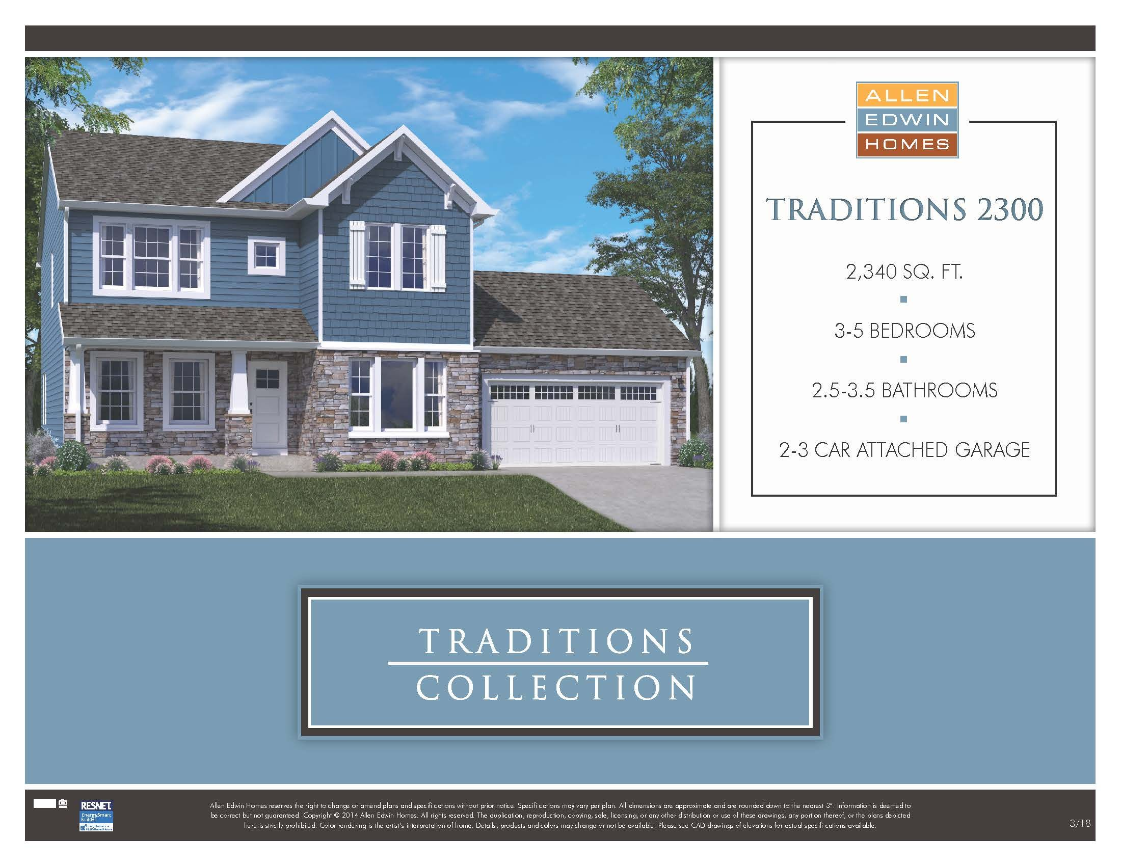 Floor Plans Traditions 2300 V80b Home Plan